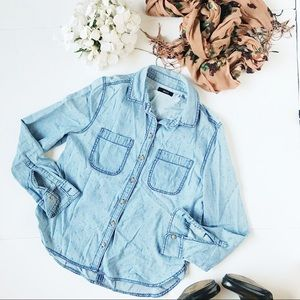 3/$20 BDG Swiss Dot Chambray Button Down